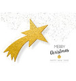 christmas new year gold glitter star greeting card vector image