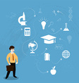 concepts of education vector image