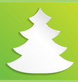 creative paper abstract christmas tree background vector image