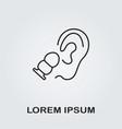 earplug icon vector image