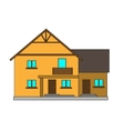 Flat house for the creation of vector image