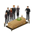 funeral ritual mourning concept burial grave vector image