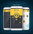 mobile application user interface concept vector image