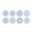 set of decorative circle patterns ethnic flower vector image