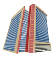 Shopping mall modern building vector image