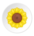 Sunflower icon cartoon style vector image