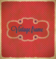 Vintage polka dot frame with stars vector image