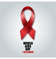 World Aids Day concept Red ribbon vector image
