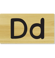 wooden letter D vector image vector image