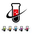 Swoosh Test Tube Logo Icons vector image