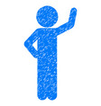 child assurance grunge icon vector image