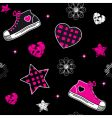 Emo symbols wallpaper vector image