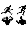 set of silhouettes of different sports vector image vector image