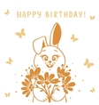 bunny silhouette vector image