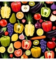 Seamless fruits and vegetables vector image