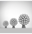 3d Abstract Tree Leadership vector image