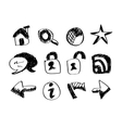 sketch web icons vector image