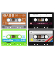 Audio cassette records vector image