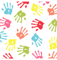 Baby handprint wallpaper vector image