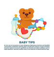 baby shower greeting card for boy or girl child vector image
