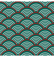Green Red White Traditional Wave Japanese vector image