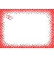 Heart frame for foto halftone vector image