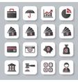 Set of flat modern bankig web icons vector image
