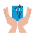 set school supplies icons vector image