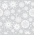 silver grey and white abstract doodle stars vector image vector image