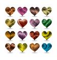 valentines day heart symbol set vector image