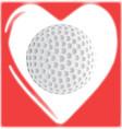 Love golf vector image