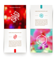 Abctact vertical banners with hipster emblems vector image