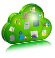 Digital enterprise management in cloud application vector image vector image