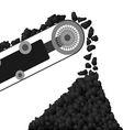 Conveyor belt with coal vector image vector image