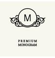 Set to create monograms vector image