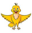 bird yellow vector image vector image