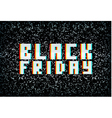 3D stereo effect black friday sale banner vector image