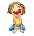 Crying girl vector image