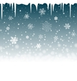 Christmas snowy background with icicles vector image