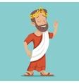 Greek Roman Retro Vintage Businessman Cartoon vector image