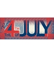 Happy Independence Day USA July fourth vector image