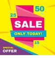Sale banner special offer 50 off vector image