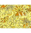 Seamless Egypt pattern Hand drawn doodle ancient vector image