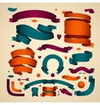 Set of Color Ribbons for Your Text vector image