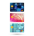 set of credit card vector image