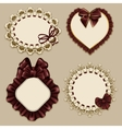 Set of elegant templates frame design vector image