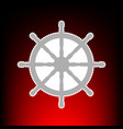 ship wheel sign postage stamp or old photo style vector image
