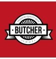 Butcher shop logo vintage vector image
