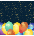 Background with colorful balloons and stars vector image vector image
