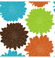 seamless background with flowers Hand-drawn vector image